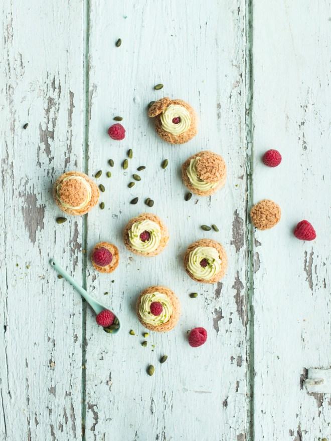 choux pistache framboise4