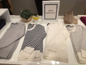 Spendid fall cashmere sweaters can be found at Fashion Island. (Photography / Elizabeth Ortiz)
