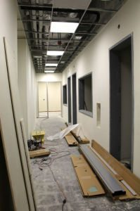 Saddleback College's radio and television stations is under construction and will open in September 2015. (Photographer/Anibal Santos)