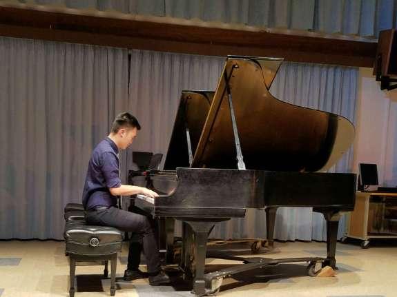 Advanced piano student Dan Kwak playing Rachmaninoff Prelude in C sharp minor (Sasha Baharestani/Lariat).