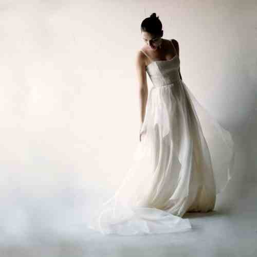 Medium Of Organza Bridal Gown