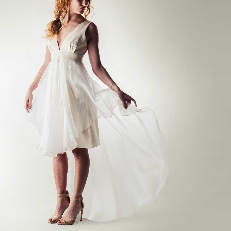 high low wedding dresses gemy maalouf high low wedding dress