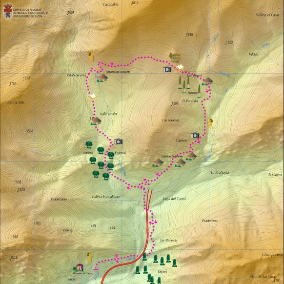 Mapa cartográfico (Universidad de León/Cuatrovalles)