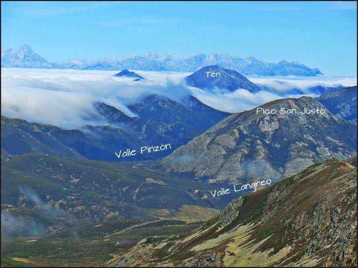 Vista desde las alturas de la sierra de Sentiles del entorno de Isoba.