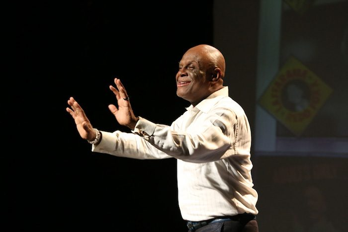 Michael Colyar's charming and funny personality warm the crowd. (Photo Courtesy by Michael Colyar)