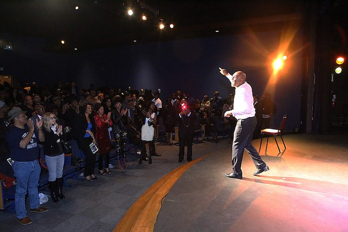 Colyar receives a standing ovation from the audience. (Photo Courtesy of Michael Colyar)