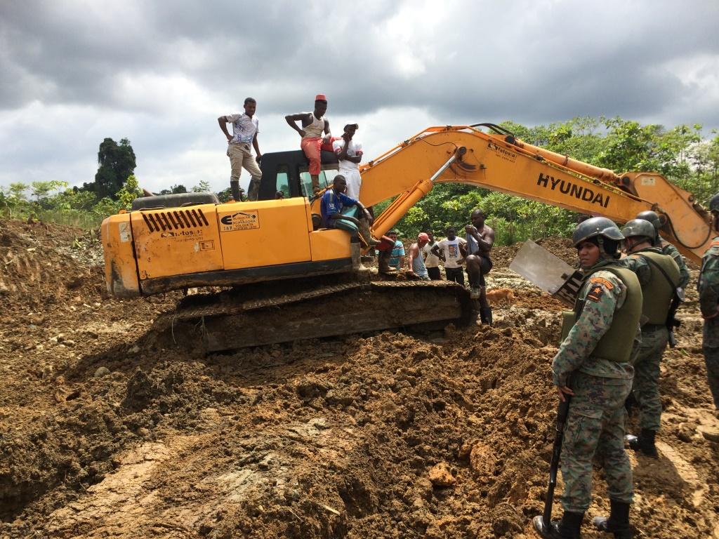 Minería ilegal Ecuador. Foto: controlminero.gob.ec