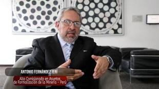 Antonio Fernández Jerí, Alto Comisionado para la formalización de la minería y erradicación de la minería ilegal.