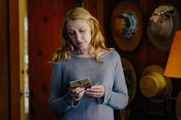 Celia Green (Patricia Clarkson) reflecting on her lake house in LAST WEEKEND.