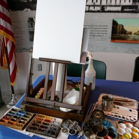 Live painting/quick draw at the National Eagle Center in Wabasha, MN for their Earth Day/Hatch Day Celebration.