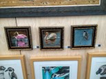 Rebecca Latham's work in the National Exhibition of Wildlife Art, Wirral, UK - Photo courtesy of Stuart Latham
