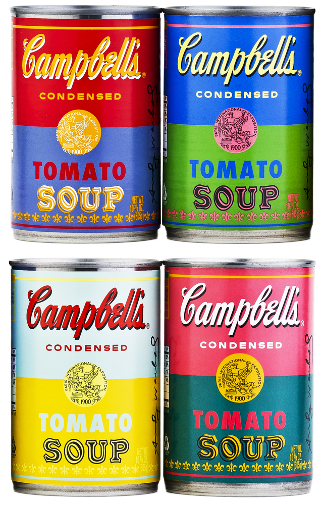campbell s releases soup cans featuring andy warhol s pop art. Black Bedroom Furniture Sets. Home Design Ideas