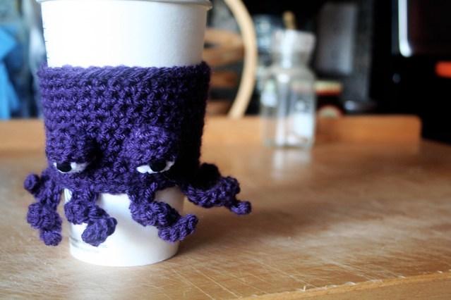 Octopus Coffee Cup Cozy