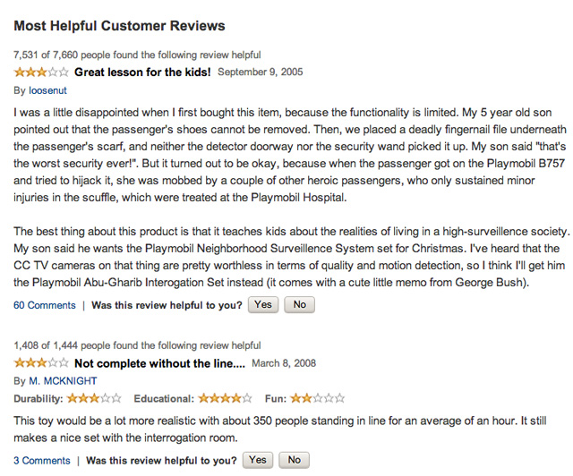 Playmobil reviews