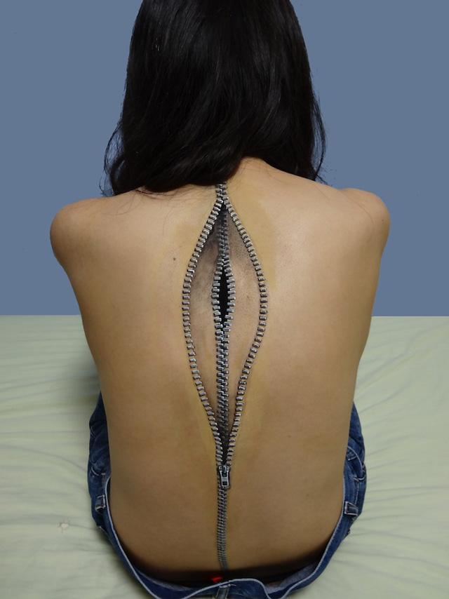 Zipper back