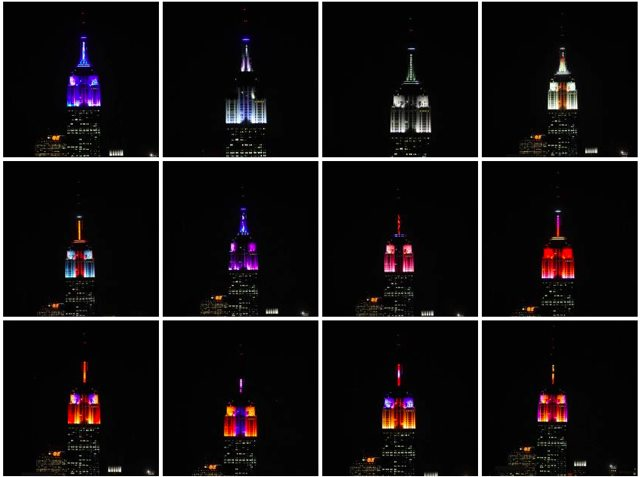 Empire State Building Light Show