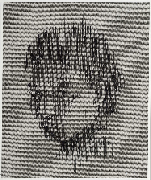 String and denim portraits by Kumi Yamashita