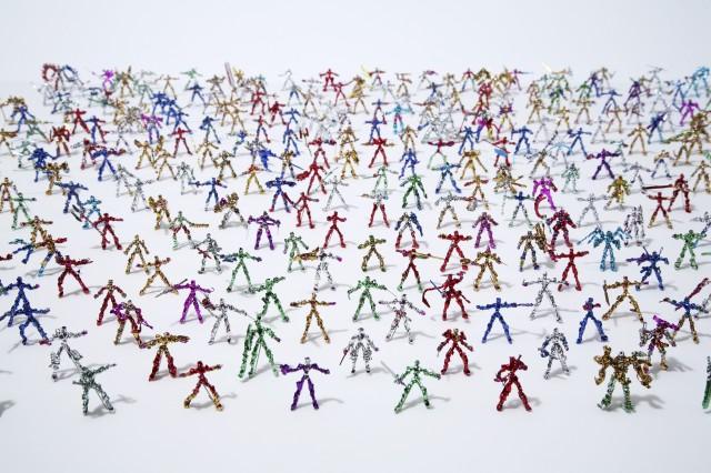 Twist Tie Action Figures by Shota Katsube