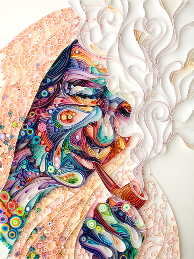 Incredibly Detailed Quilled Paper Portraits by Yulia Brodskaya