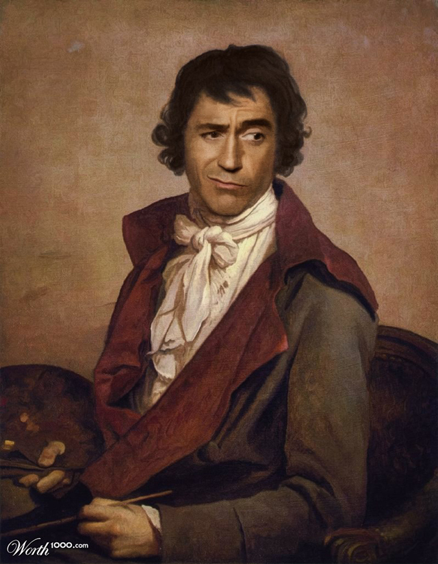 Robert Downey Jr. by Jacques Louis David by ghimm