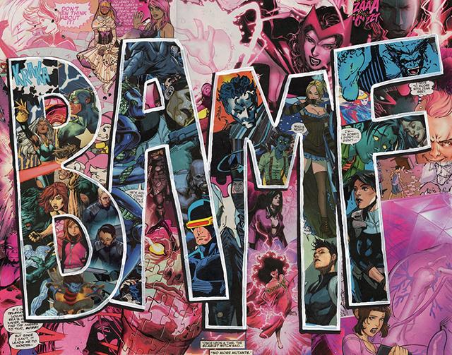 BAMF Nightcrawler Comics Collage