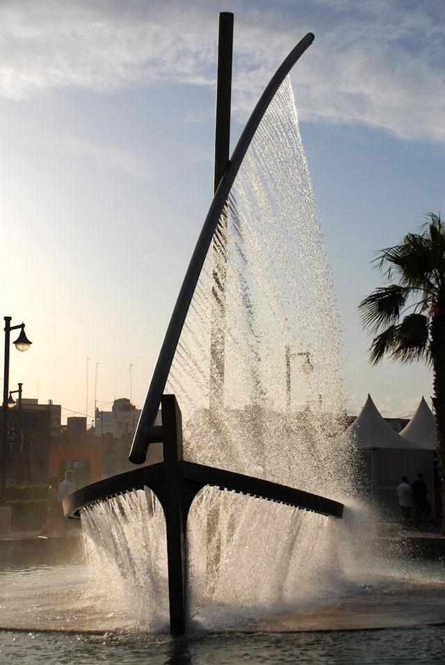 Water Boat Fountain
