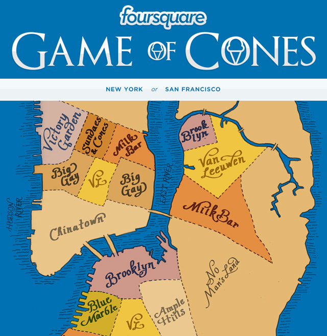Game of Cones map