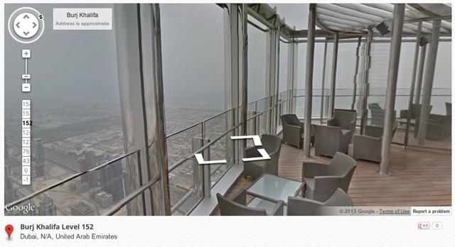 Google Street View of the Burj Khalifa