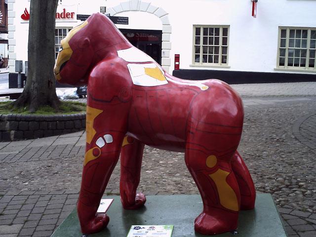 Iron Man Gorilla Sculpture by Martin Wall