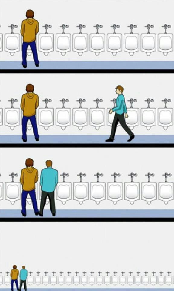 10 Always leave a one-urinal buffer zone