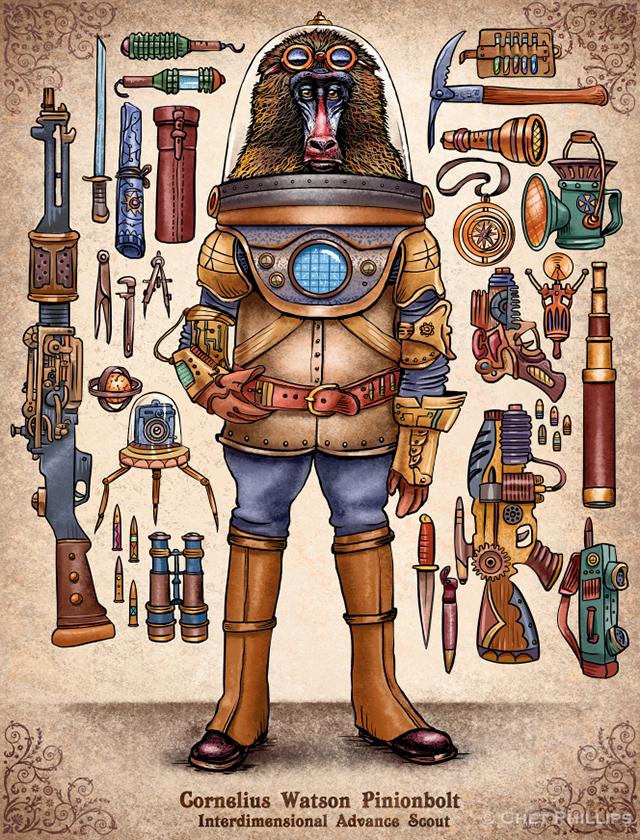 Pinionbolt - Steampunk Monkey Nation and Gear