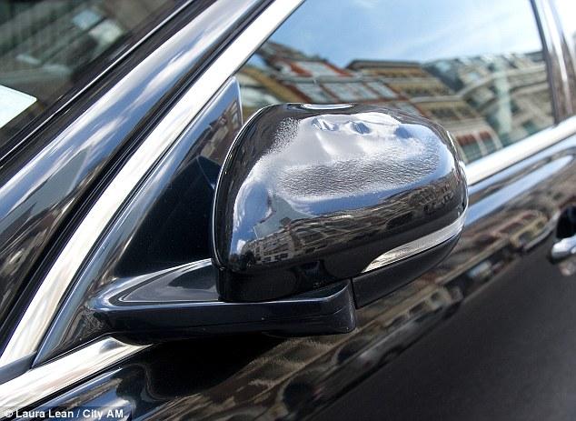 London Skycraper melts car