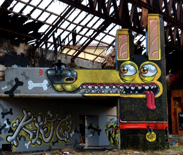 Crazy street art by Miste Thoms