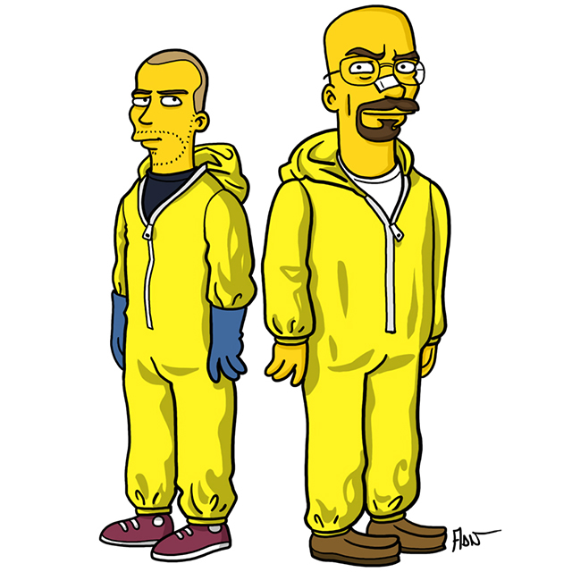 Walter and Jesse (Yellow suit version)