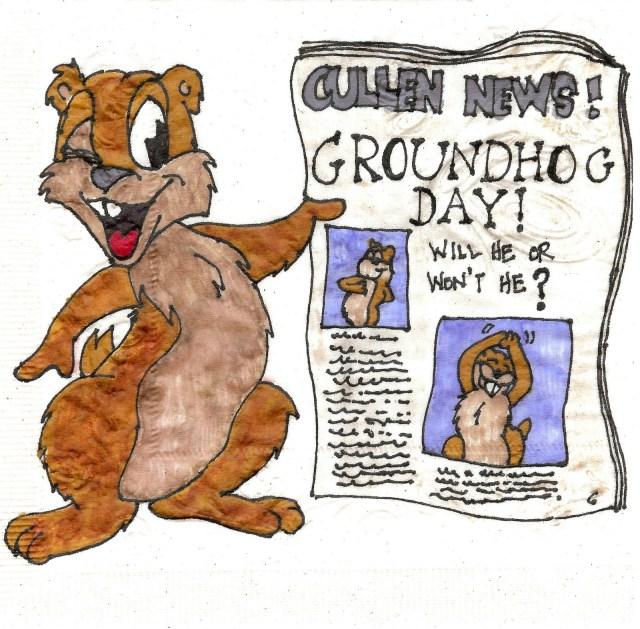 Groundhog Day Napkin