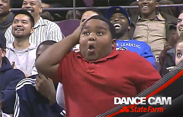 Epic Dance Battle Between a Detroit Pistons Usher and an Energetic Kid