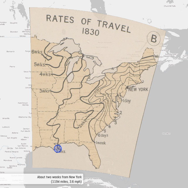Rates of Travel from New York City