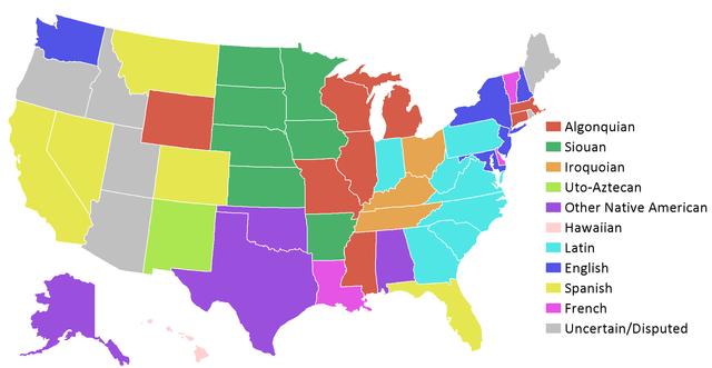 State Name Etymologies