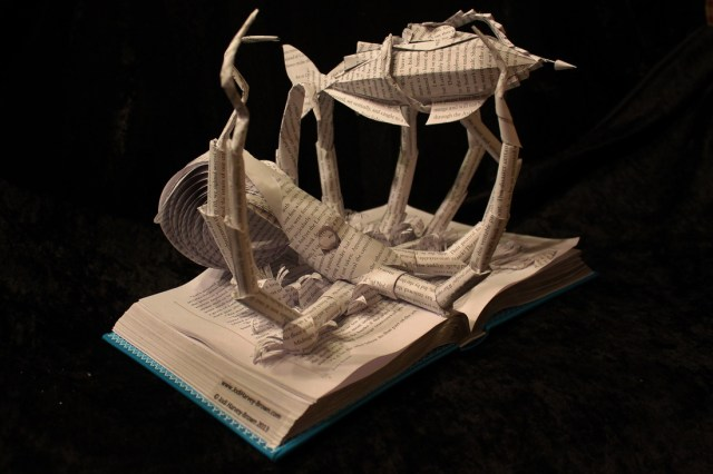 Book Scuptures by Jodi Harvey-Brown