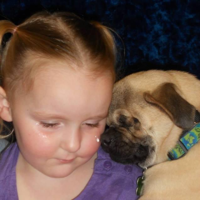 Xander with Little Girl