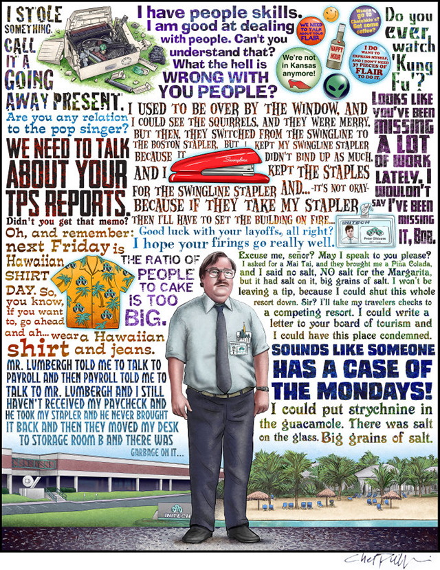 Case of the Mondays Office Space Tribute