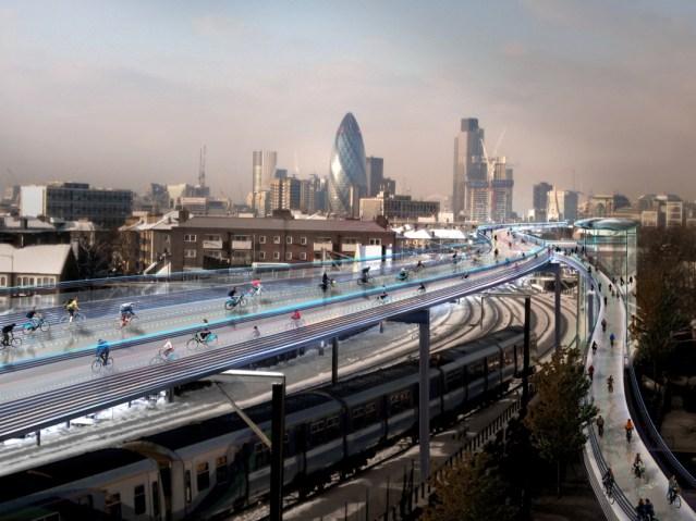 SkyCycle Elevated London Bikeway System
