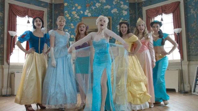 "Disney princesses in ""Frozen: A Musical Featuring Disney Princesses"""