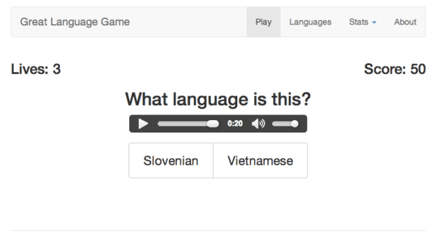 Great Language Game Comparison