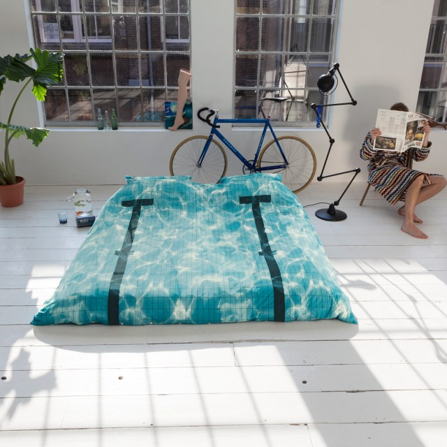 Pool Themed Bedding Outside