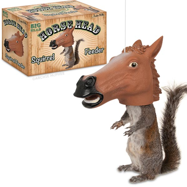 Horse Head Squirrel Feeder by Archie McPhee