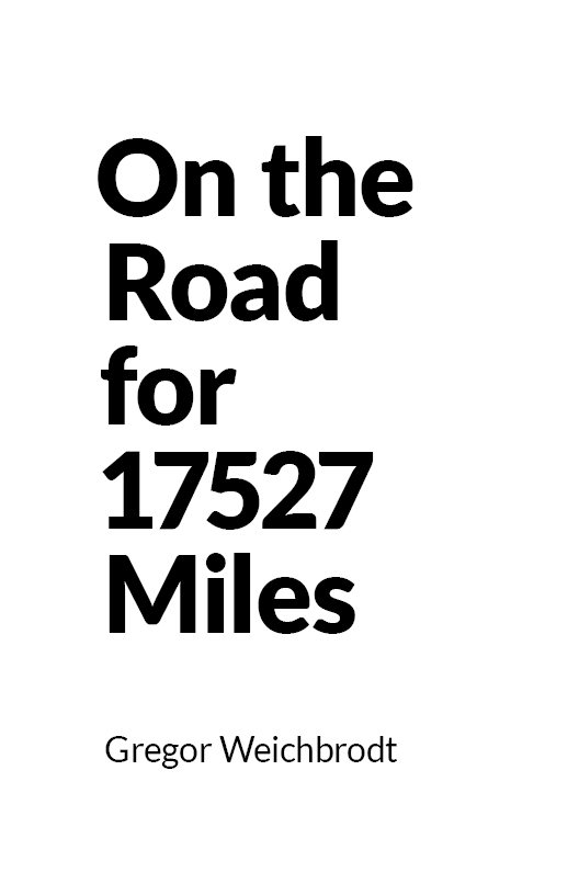 """On the Road for 17527 Miles"" cover"
