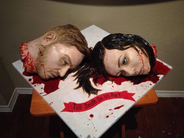 Severed Heads Wedding Cake Angle