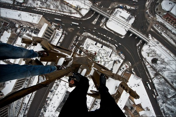 Kirill Oreshkin and Friend Climbing