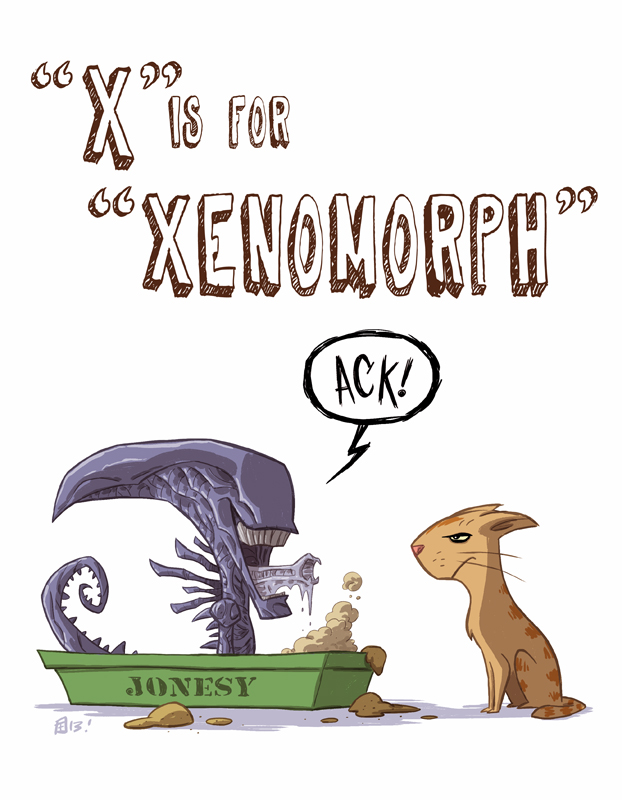 X Is For Xenomorph by Otis Frampton